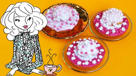 Winters roze koeken