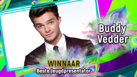 Buddy Vedder is de Beste Jeugdpresentator!