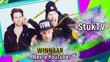 StukTV WINT Award voor Beste YouTuber!
