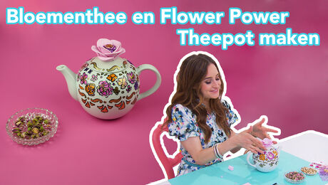 Rozenthee en Flower Power theepot maken