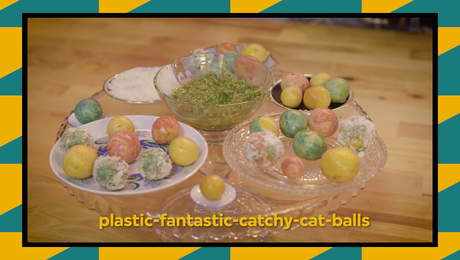 recept: plastic-fantastic catchy-cat balls