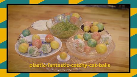 recept: plastic-fantastic catchy-cat balls
