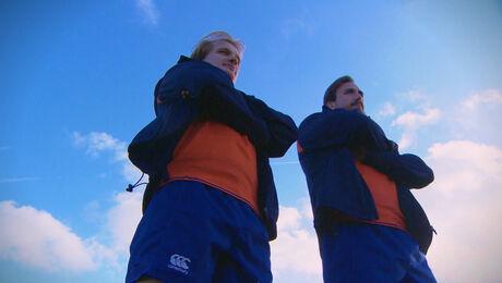 Rugby, Kevin Krieger en Marc Mistou