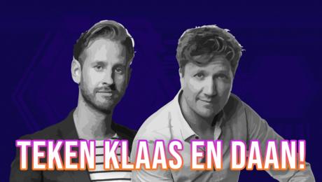 Maak een sneltekening van Klaas of Daan!