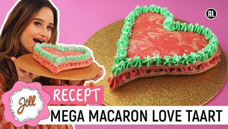 Mega Macaron Love Taart