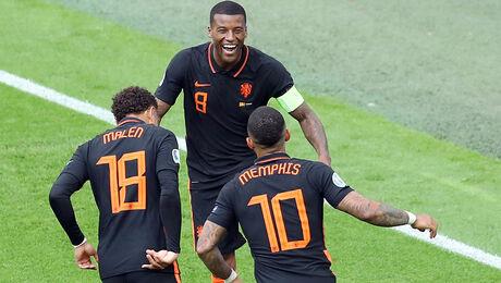Oranje wint van Noord-Macedonië