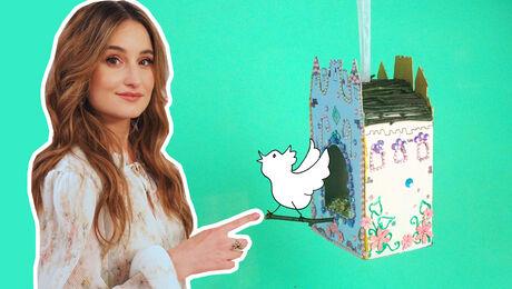 Vogelhuis van melkpak